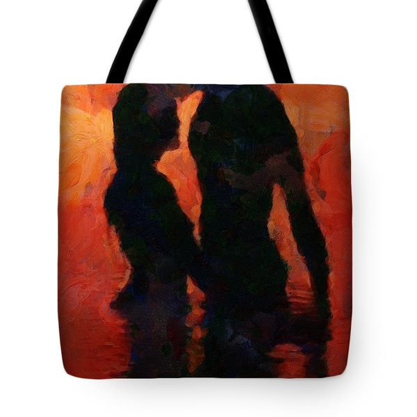 Tote Bag featuring the painting Eternity by Sir Josef - Social Critic - ART