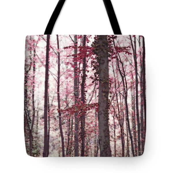 Ethereal Austrian Forest In Marsala Burgundy Wine Tote Bag