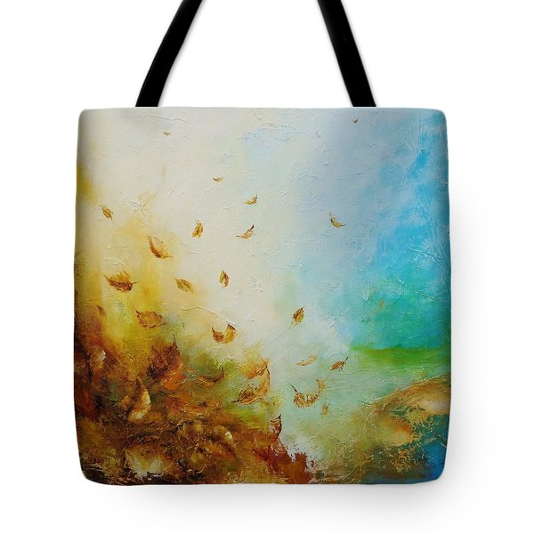 Tote Bag featuring the painting Ethereal Autumn by Dina Dargo
