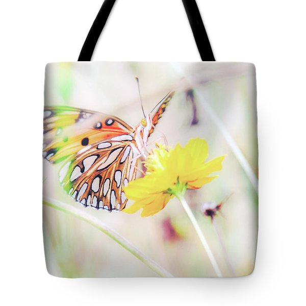 Tote Bag featuring the photograph Ethereal Butterfly by Andrea Anderegg