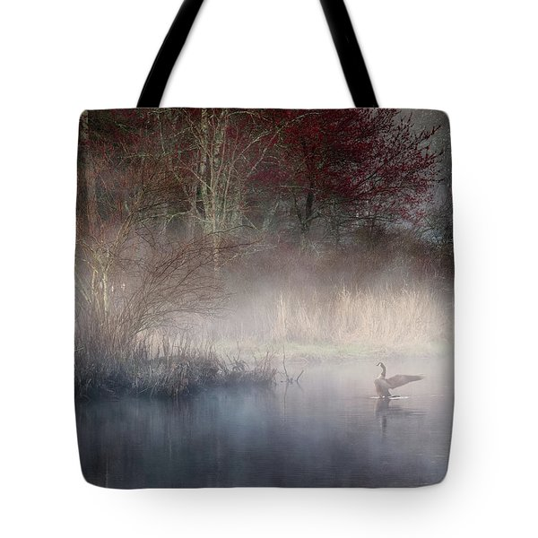 Tote Bag featuring the photograph Ethereal Goose by Bill Wakeley