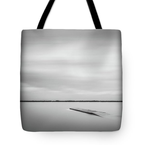 Ethereal Long Exposure Of A Pier In The Lake Tote Bag