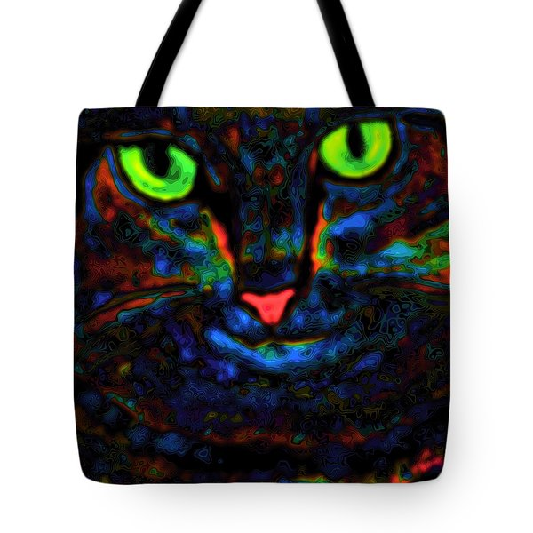 Ethical Kitty See's Your Dilemma Light 2 Dark Version Tote Bag