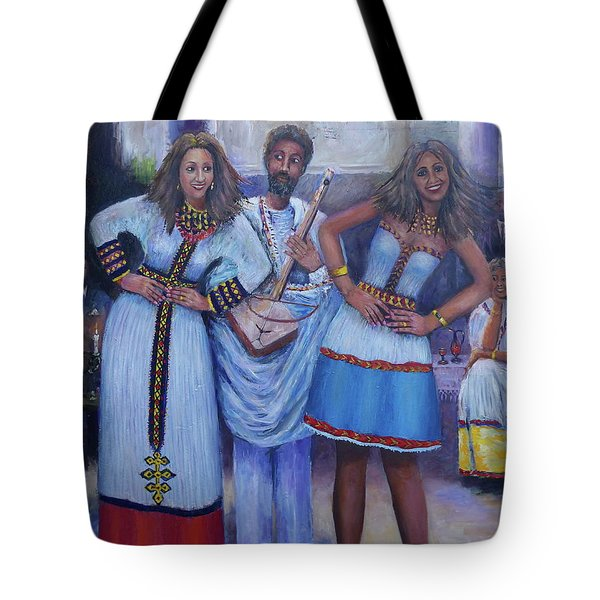 Ethiopian Ladies Shoulder Dancing Tote Bag