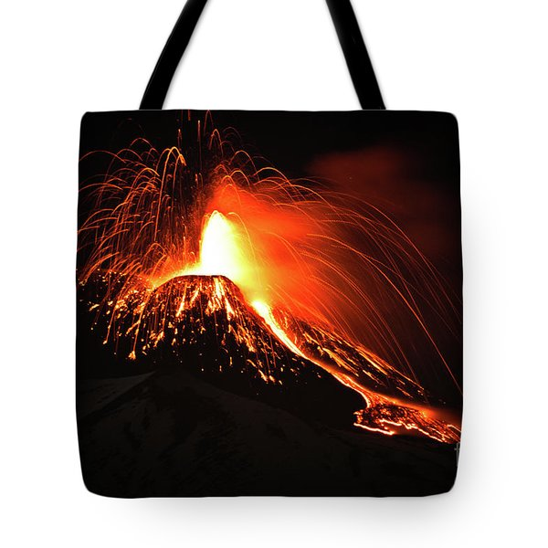 Tote Bag featuring the pyrography Etna by Bruno Spagnolo