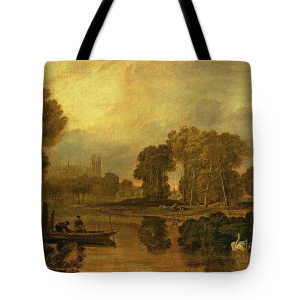 Eton College From The River Tote Bag by Joseph Mallord William Turner