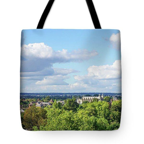 Eton College From Windsor Castle Tote Bag