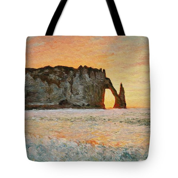 Etretat, Sunset  Tote Bag