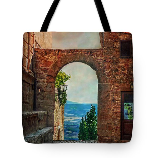 Tote Bag featuring the photograph Etruscan Arch by Hanny Heim