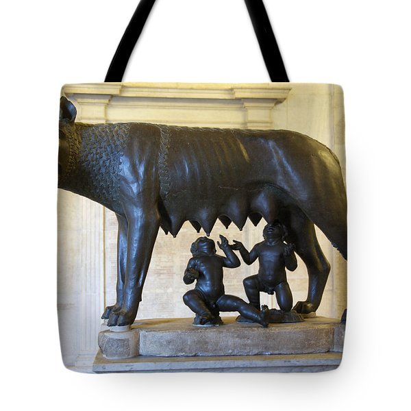 Etruscan Bronze Statue Of The She-wolf With Romulus And Remus. Capitoline Museum. Capitoline Hill. R Tote Bag