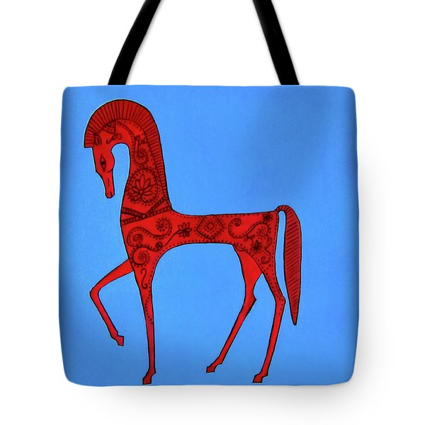 Etruscan Horse #2 Tote Bag