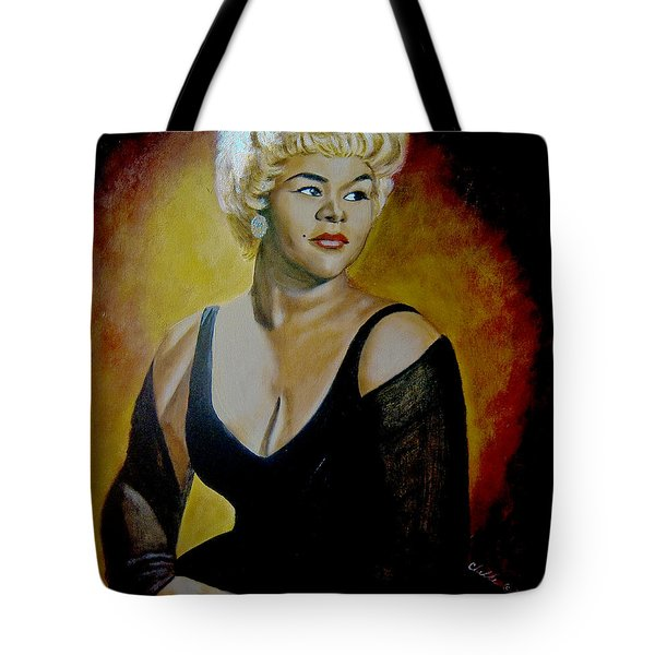 Etta James Tote Bag by Chelle Brantley