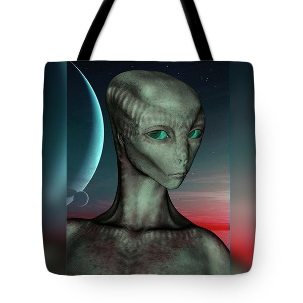 Alien Girl Tote Bag by Viaruss Ut-Gella