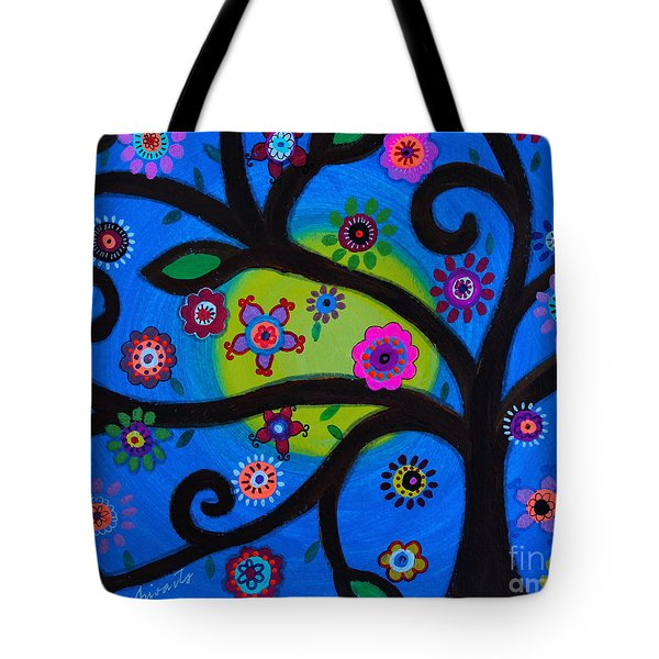 Tote Bag featuring the painting Etz Chayim by Pristine Cartera Turkus