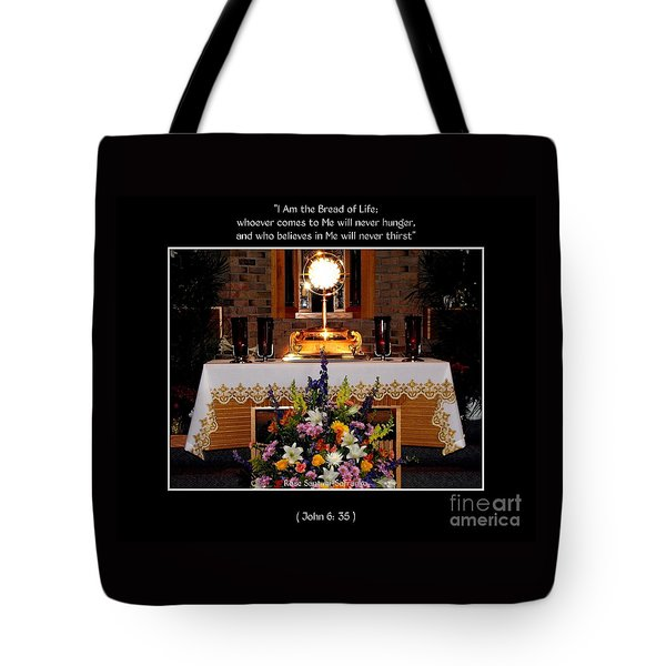 Eucharist I Am The Bread Of Life Tote Bag