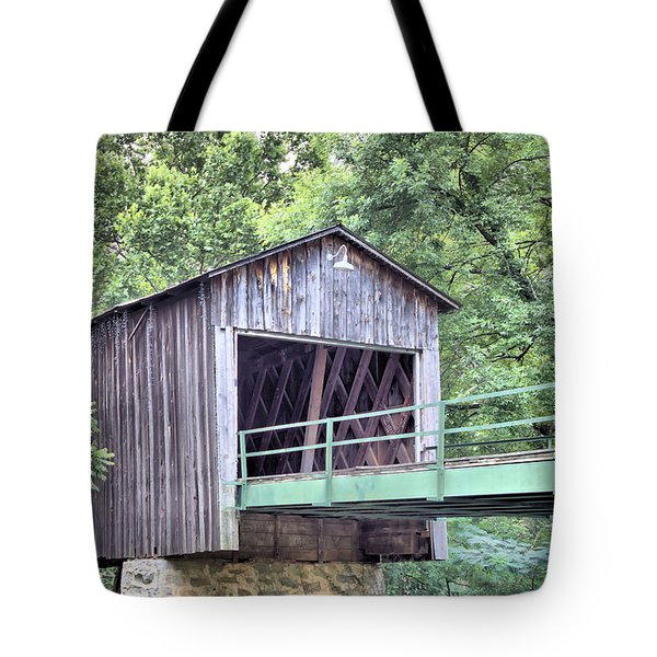 Euharlee Creek Covered Bridge Tote Bag