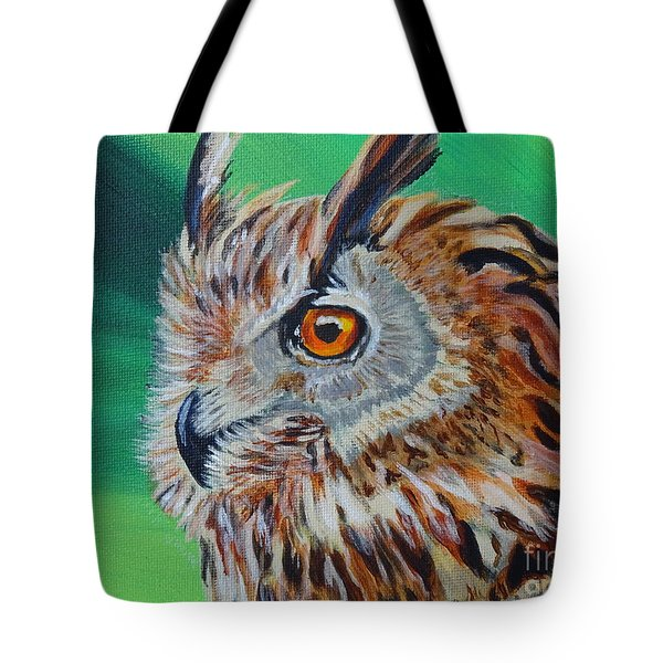 Eurasian Eagle-owl Tote Bag by Isabel Proffit
