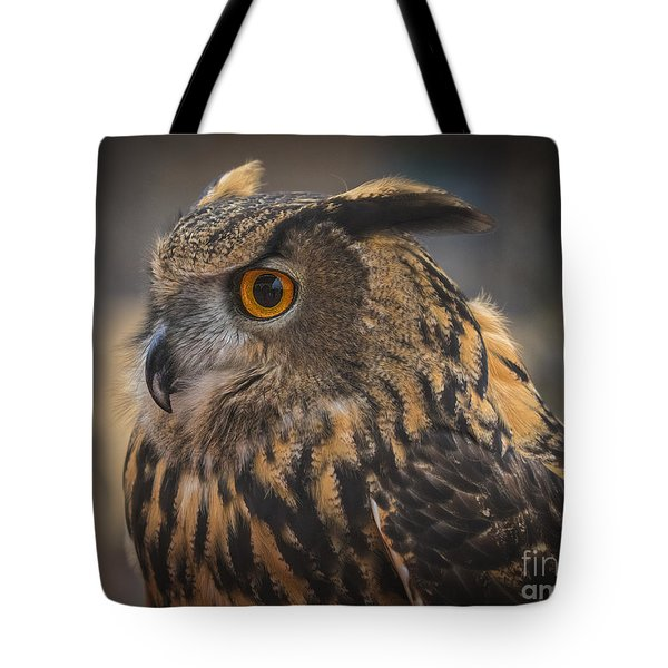 Eurasian Eagle Owl Portrait 2 Tote Bag