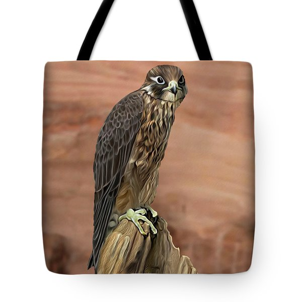 Eurasian Hobby Falcon Tote Bag by Walter Colvin