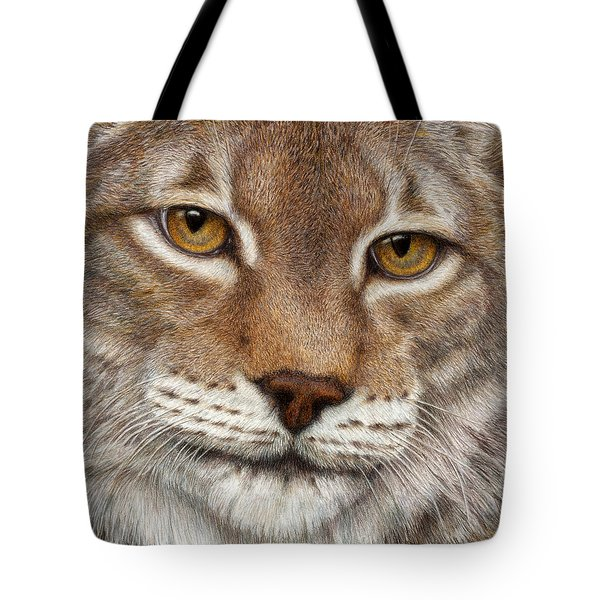 Tote Bag featuring the painting Eurasian Lynx by Pat Erickson
