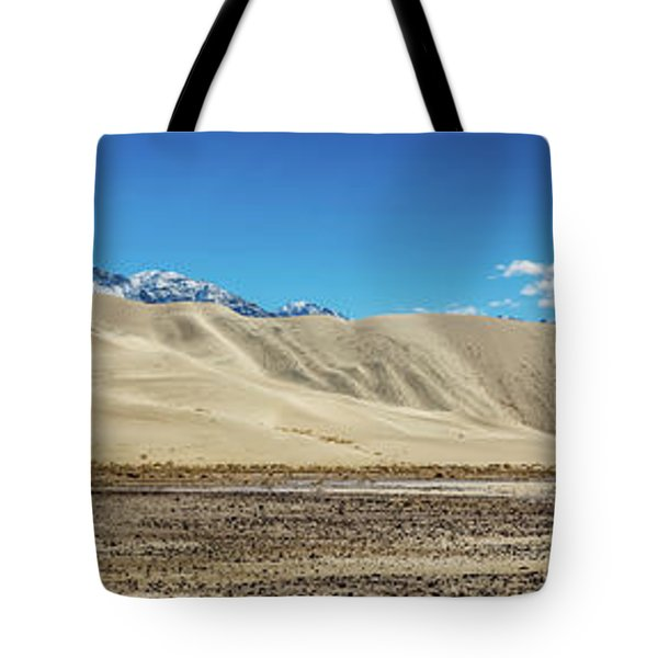 Tote Bag featuring the photograph Eureka Dunes - Death Valley by Peter Tellone