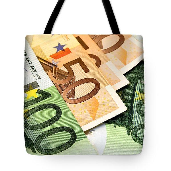 Euro Banknotes Tote Bag