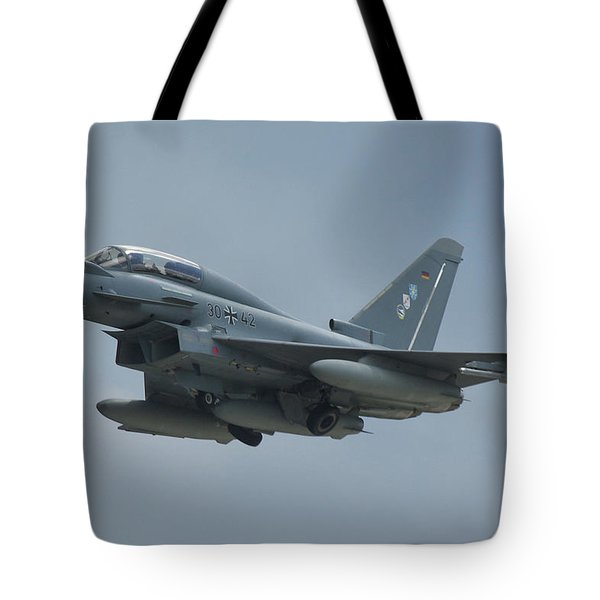 Eurofighter Ef2000 Tote Bag by Tim Beach