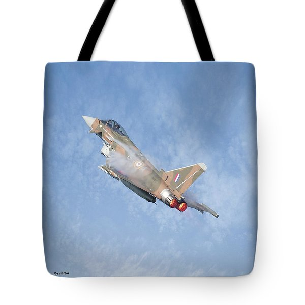 Tote Bag featuring the photograph Eurofighter by Roy McPeak