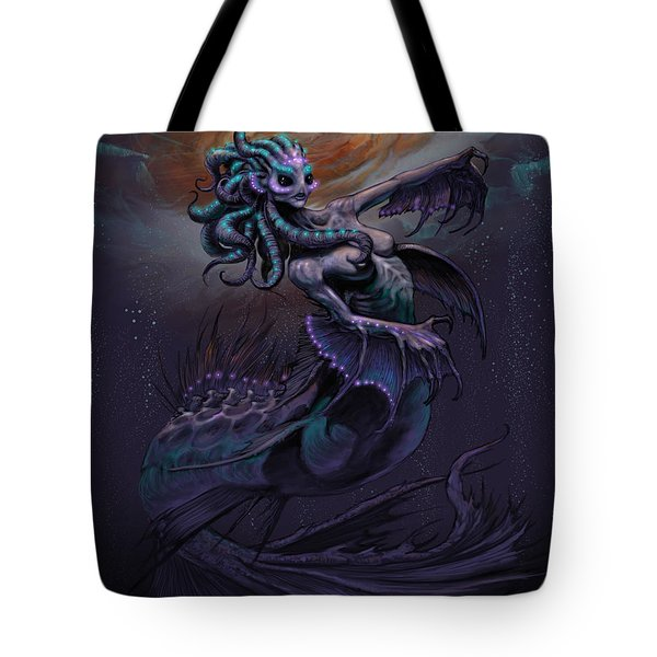 Tote Bag featuring the digital art Europa Mermaid by Stanley Morrison