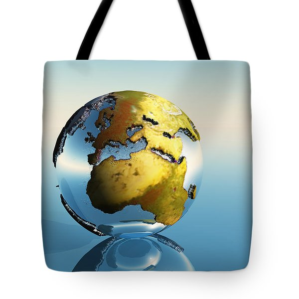 Europe And Africa Tote Bag by Corey Ford
