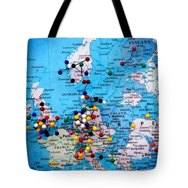 Europe And Russia Map Tote Bag