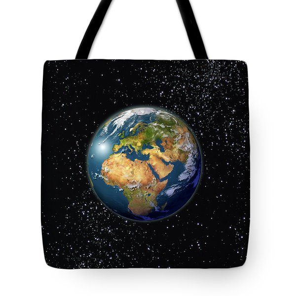 Europe, England, Middle East, North Africa As Seen From Space  Tote Bag