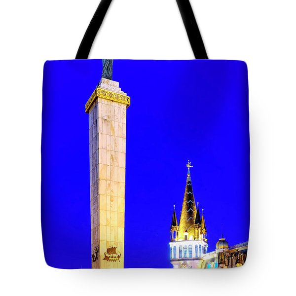 Tote Bag featuring the photograph Europe Square by Fabrizio Troiani