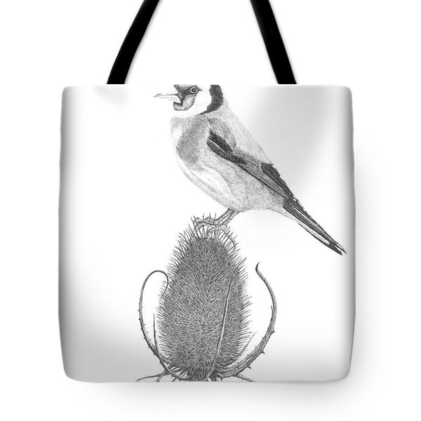 European Goldfinch Tote Bag by Patricia Hiltz