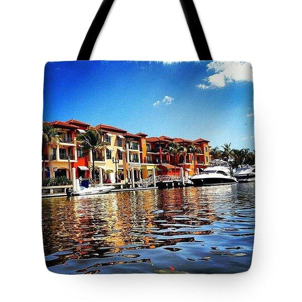 Kayaking At Naples Bay Resort Tote Bag