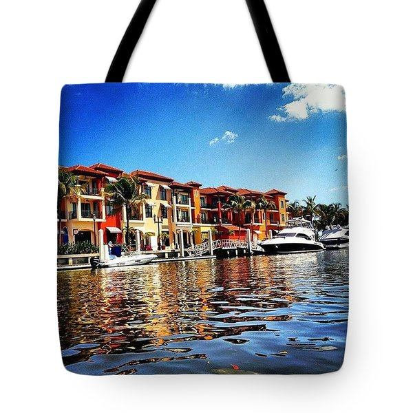 Kayaking At Naples Bay Resort Tote Bag