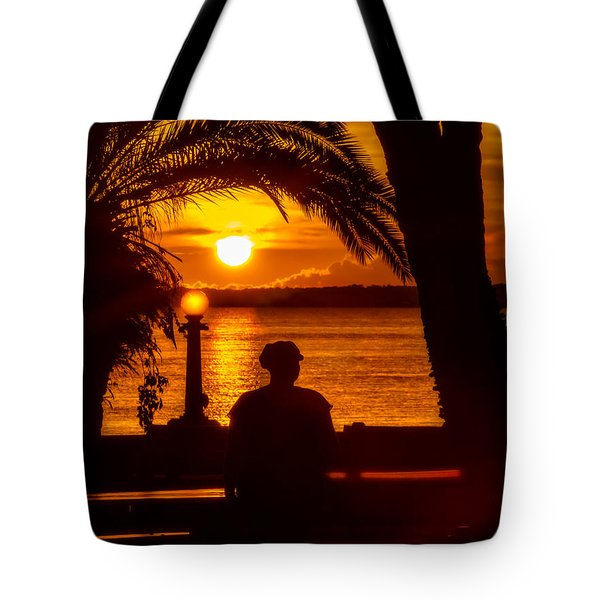 Tote Bag featuring the photograph Eustis Sunset by Christopher Holmes