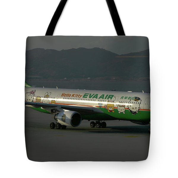 Eva Air Airbus A330-203 Tote Bag by Tim Beach