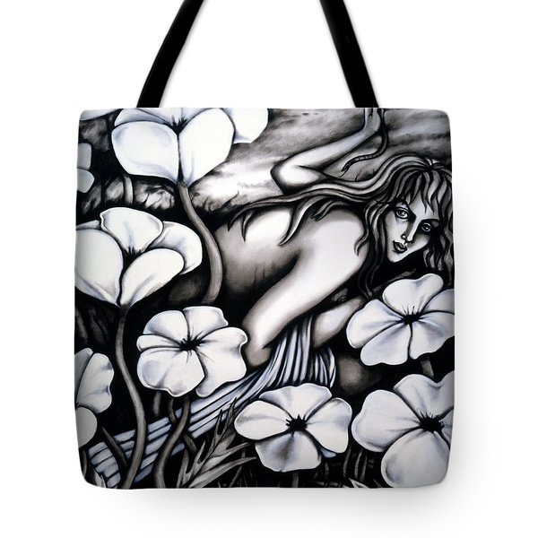 Tote Bag featuring the painting Eva by Valerie White