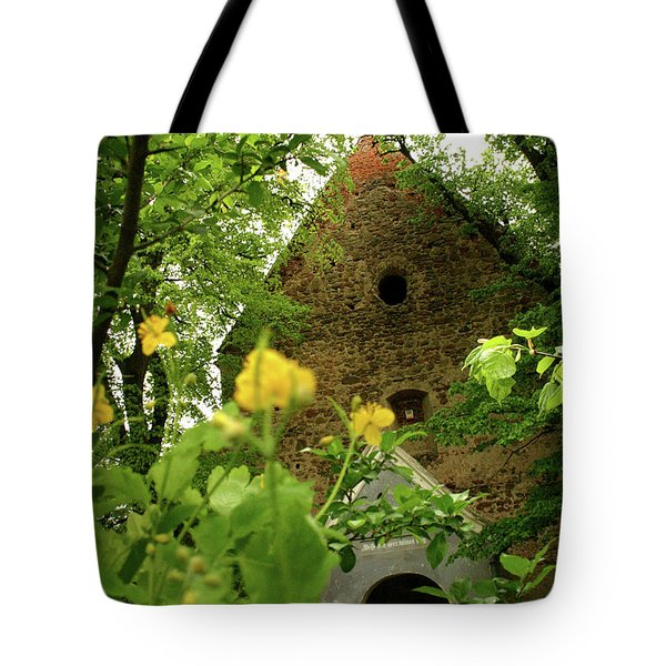 Evangelical Stone Chapel In Transylvania Tote Bag