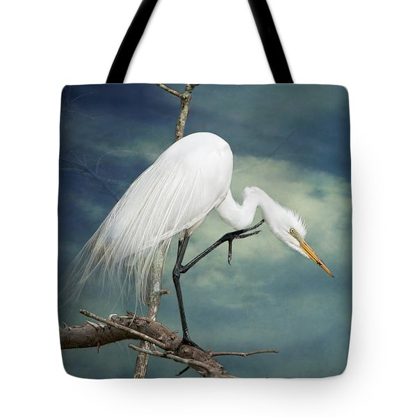 Evangeline Parish Egret Tote Bag