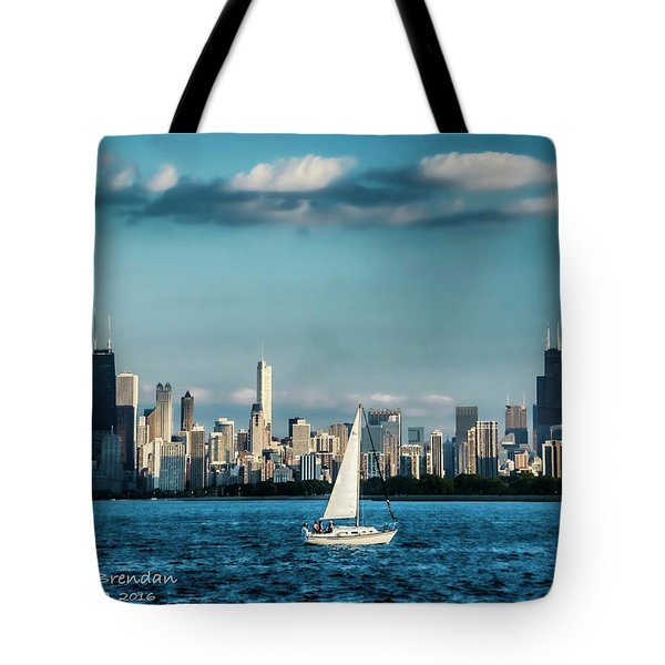 Evan's Chicago Skyline  Tote Bag