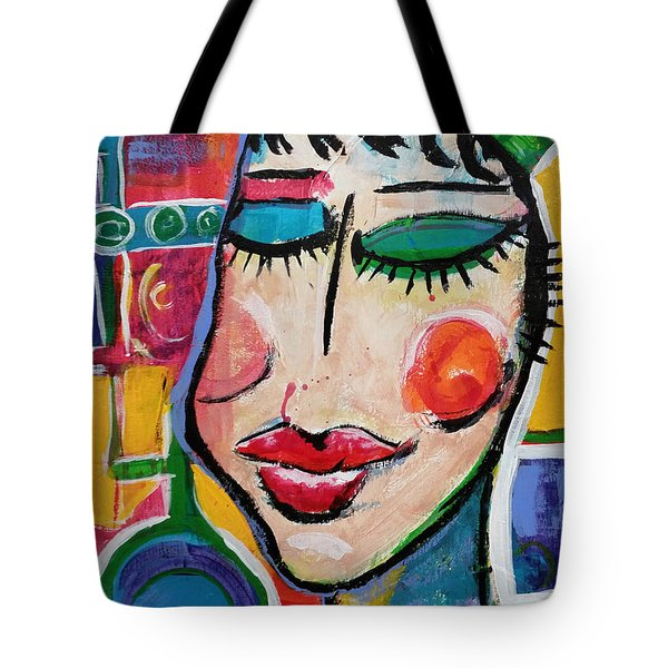 Evelyn - Vivid Vixen 5 Tote Bag