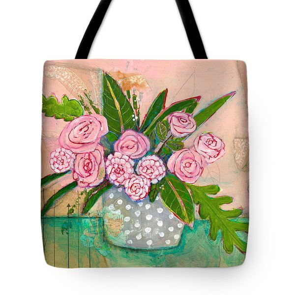 Evelyn Rose Flowers Tote Bag