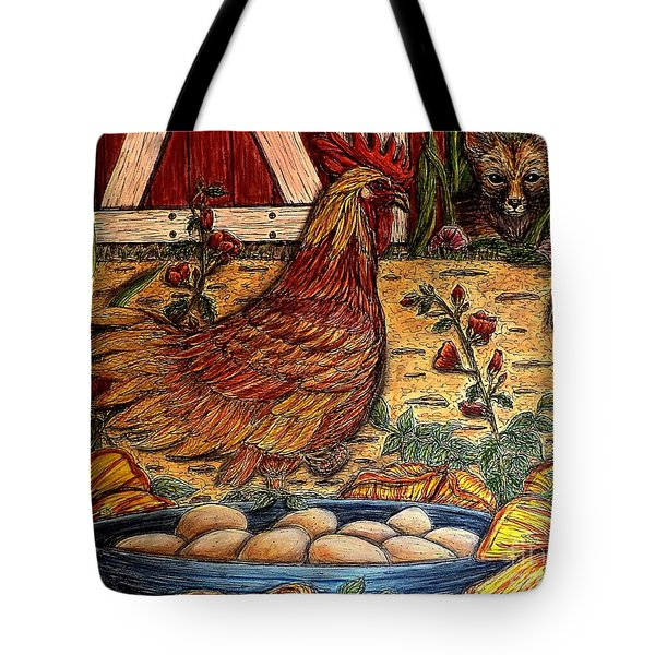 Even Chickens Can Be Heroes Tote Bag