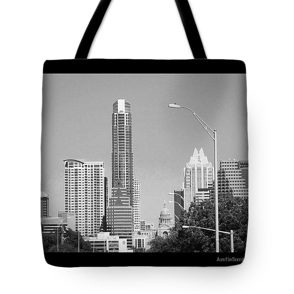 Even In #blackandwhite, The #skyline Of Tote Bag