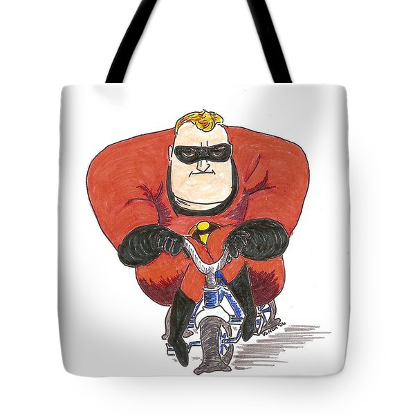 Even Super Heroes Have Bad Days Tote Bag by Vonda Lawson-Rosa