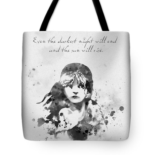 Even The Darkest Night Will End Black And White Tote Bag