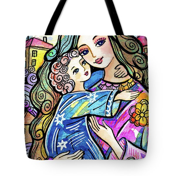Tote Bag featuring the painting Evening Angel by Eva Campbell