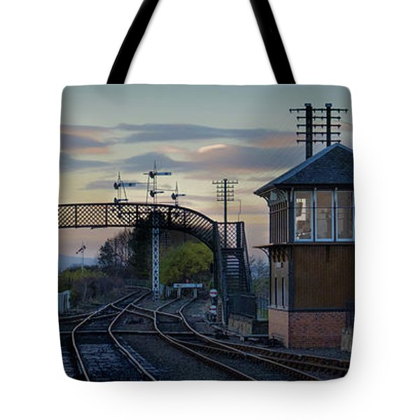 Evening At Bo'ness Station Tote Bag